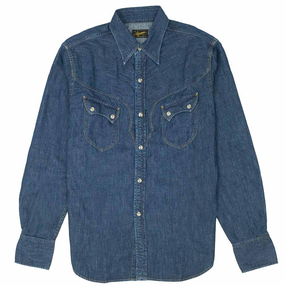 Stevenson Overall Co. Cody Shirt - Faded Indigo 1