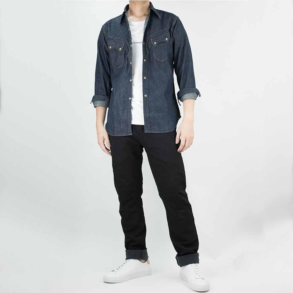 Stevenson Overall Co. Cody Shirt - Indigo 9