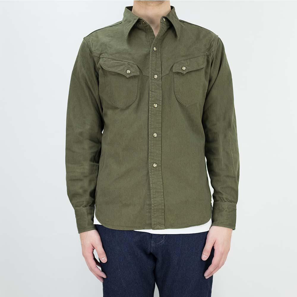 Stevenson Overall Co. Trigger Shirt - Olive 2