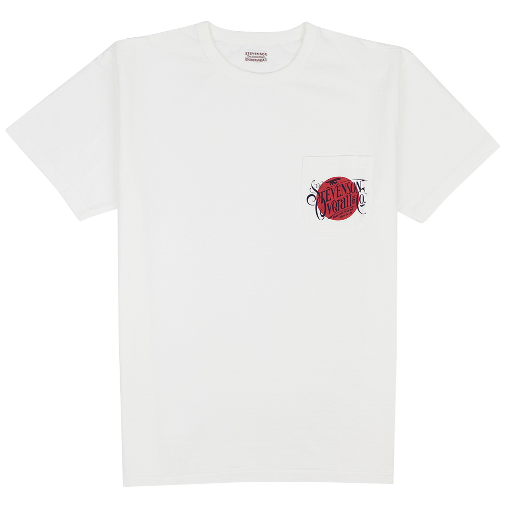 Stevenson Overall Co. Graphic Pocket T-Shirt Rising Sun - White