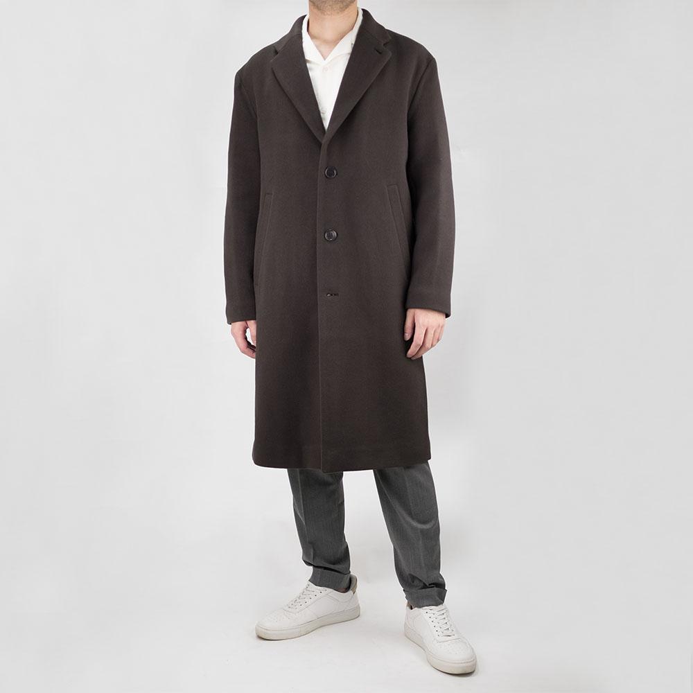Filippa K Lyon Wool Coat - Dark Mole