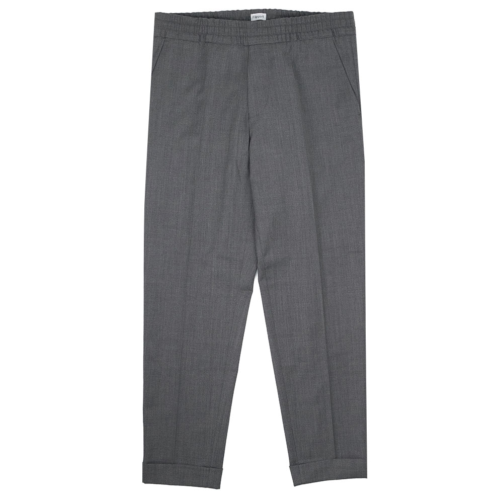 Filippa K Terry Cropped Trouser - Grey Melan