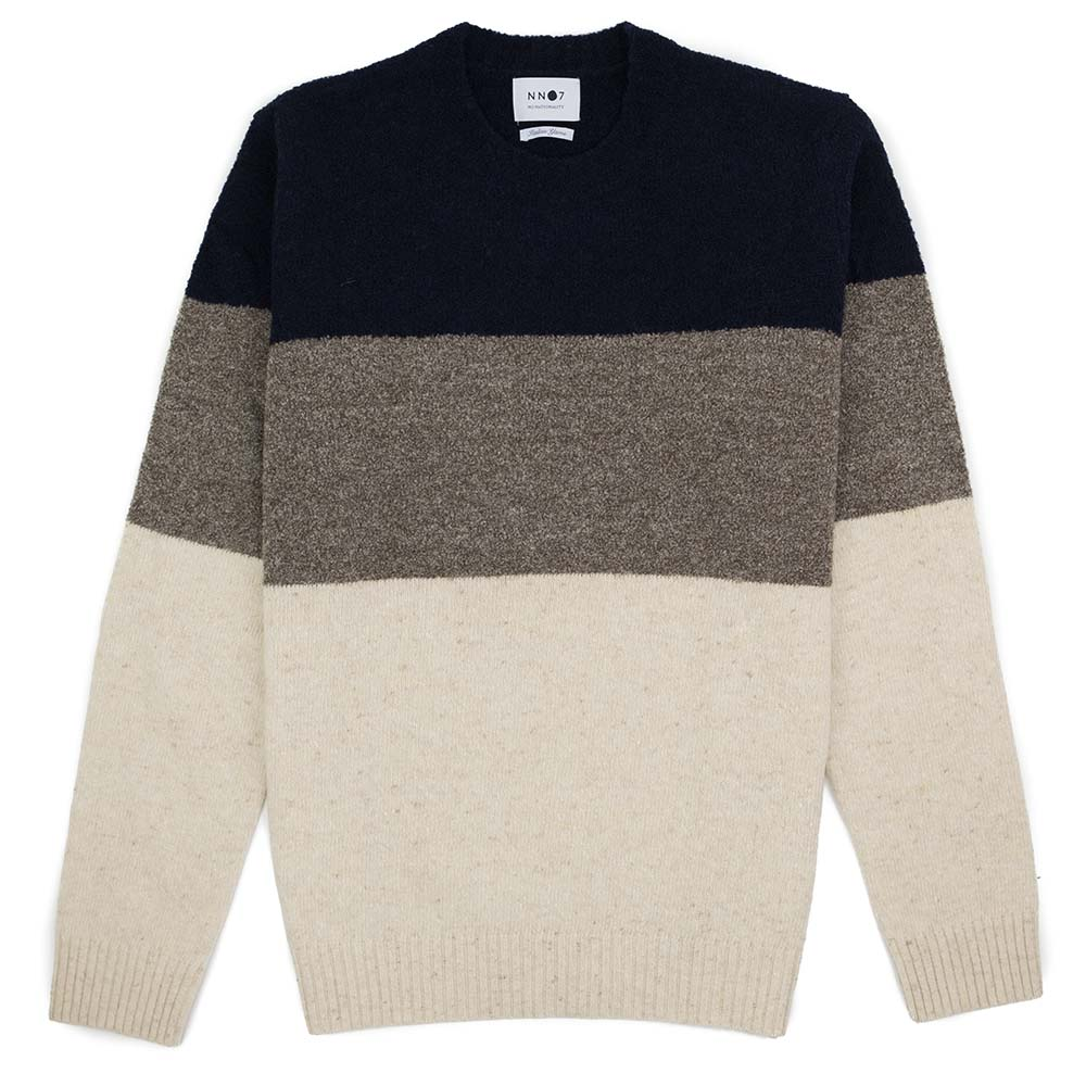 NN07 Ed Block Wool Sweater - Navy Block