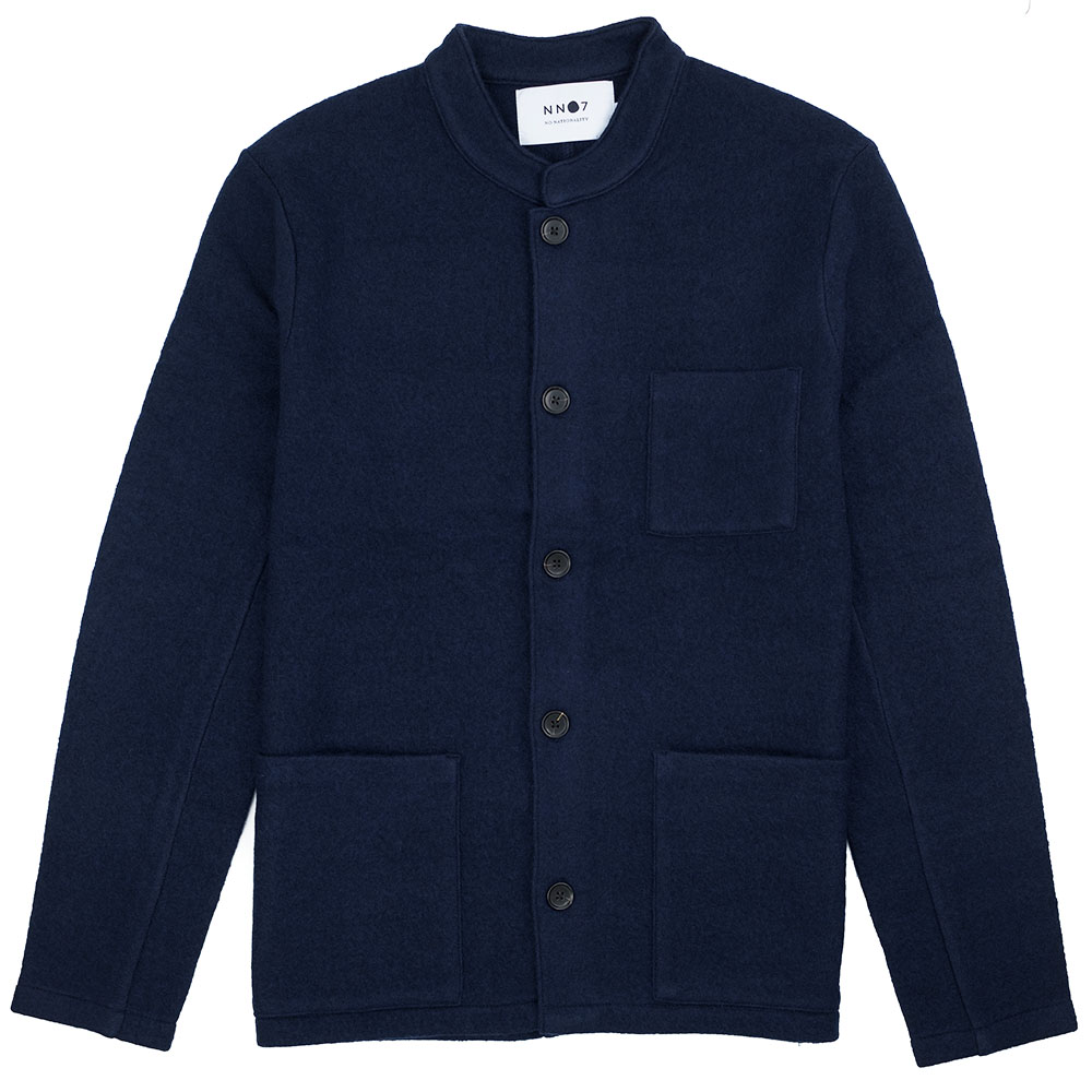 NN07 Oswald Jacket Hybrid Wool - Navy Blue