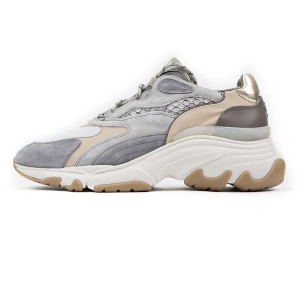 PREGIS Ainsley Leather Runner Sneaker - Grey Beige