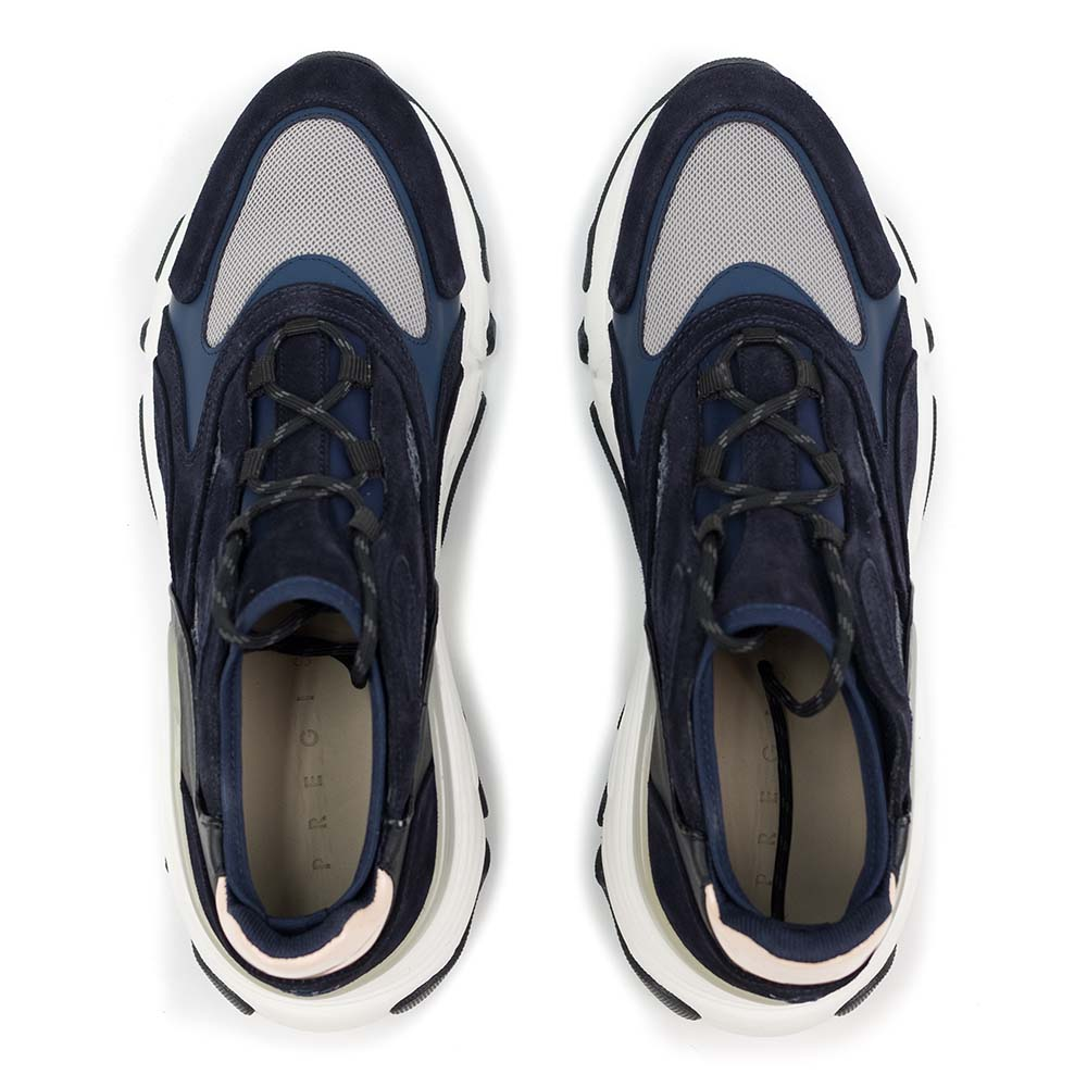 PREGIS Ainsley Leather Runner Sneaker - Navy Pink Multi