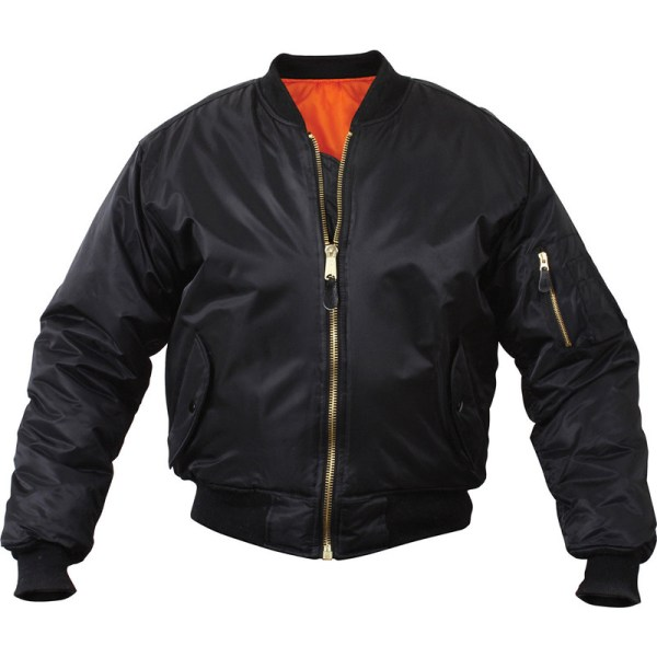 Reversible-Orange-Lining-black-bomber-jacket