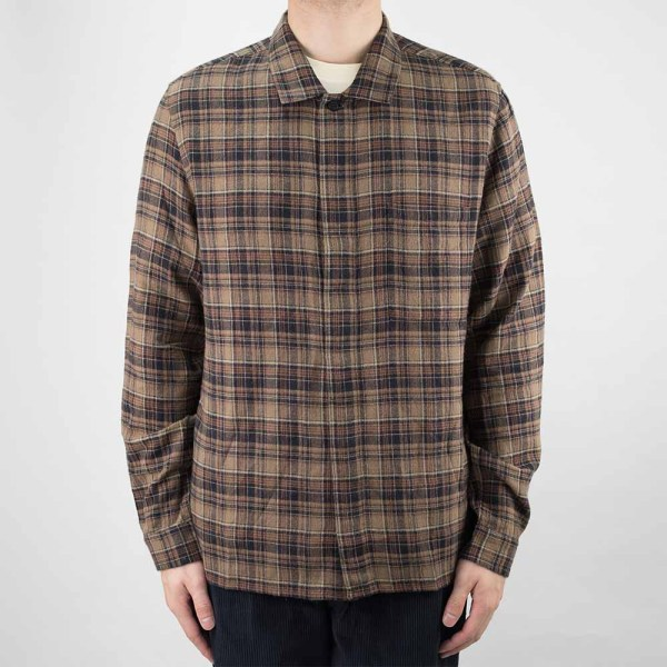 Folk Patch Shirt - Brown Multi Check
