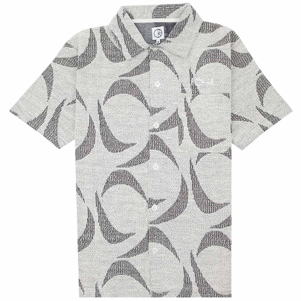 Polar Skate Co. Patterned Polo Shirt - Ivory/Black