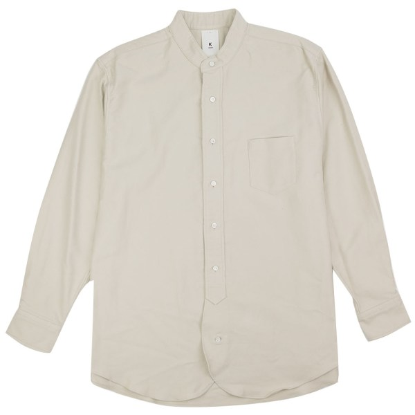 Kuro Band Collar Big Shirt - Ivory