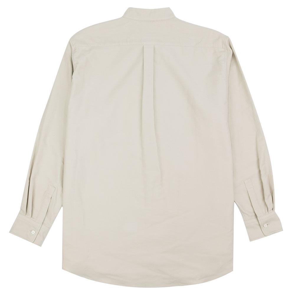 Kuro Band Collar Big Shirt - Ivory