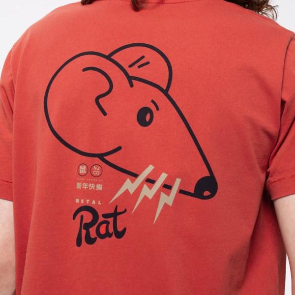 Nudie Jeans Roy-Year-Of-The-Rat-Red-Tee2