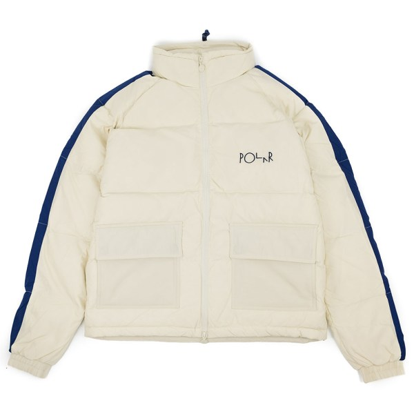 Polar Skate Co. Stripe Puffer - Ivory/Navy