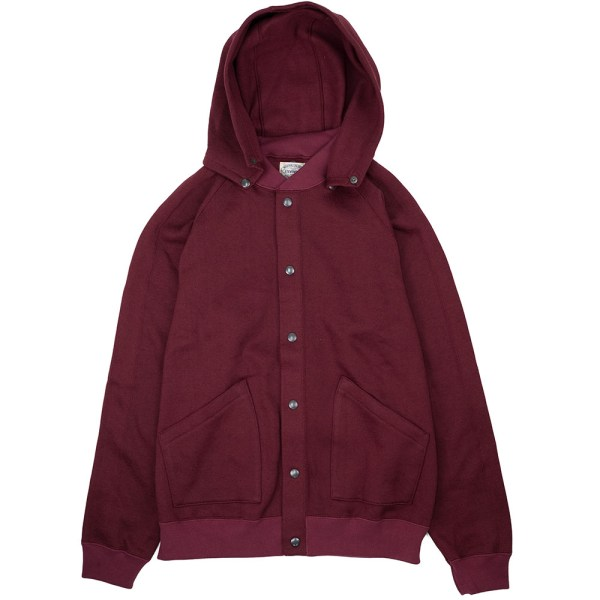 Stevenson Overall Co. Detachable Hooded Athletic Jacket - Burgundy