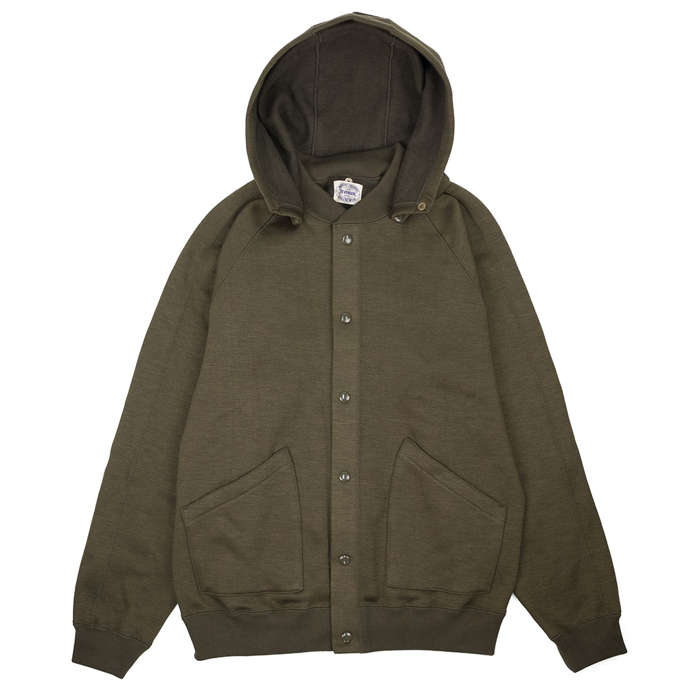 Stevenson Overall Co. Detachable Hooded Athletic Jacket - Olive