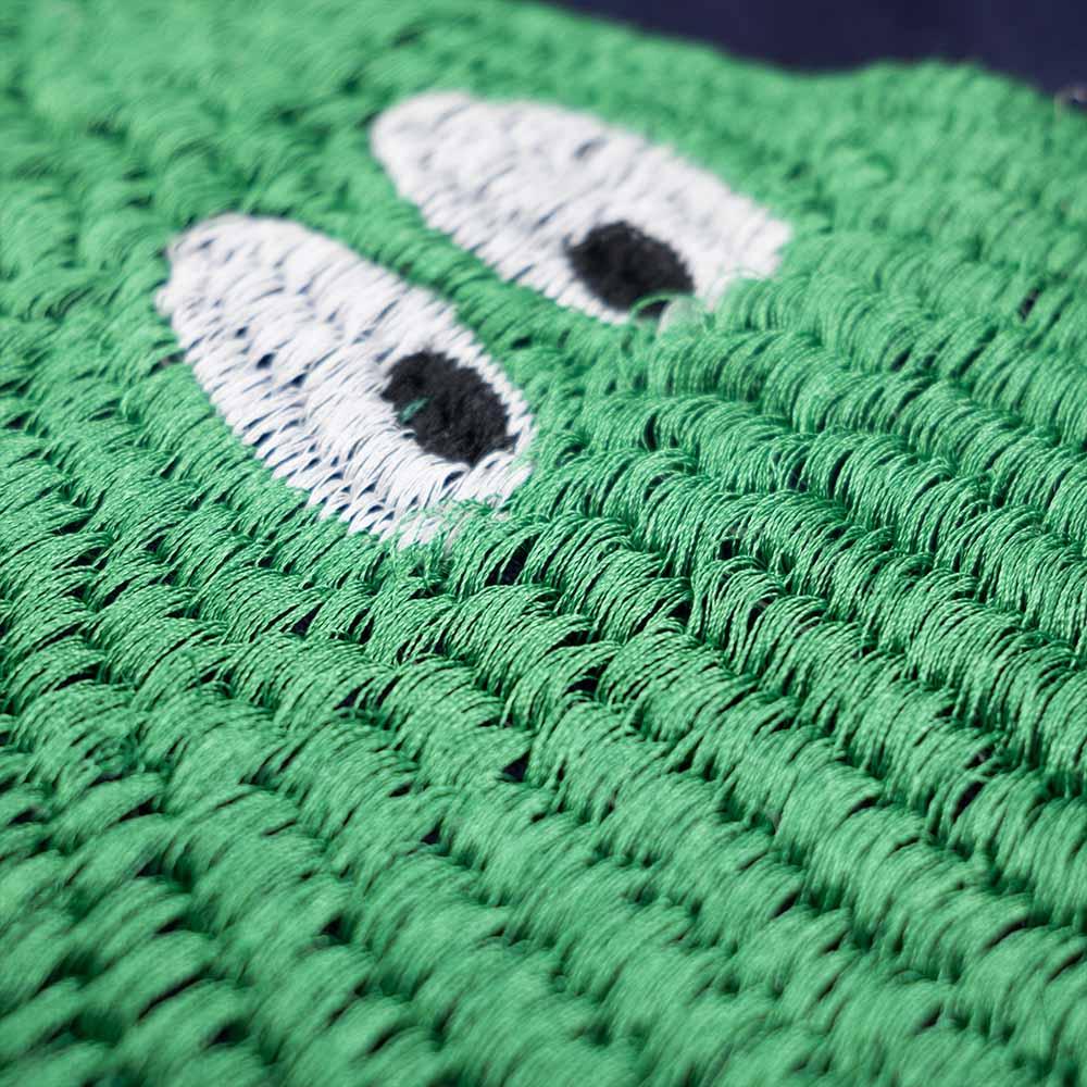 Monitaly 3D Avocado Embroidery S/S Tee - Navy