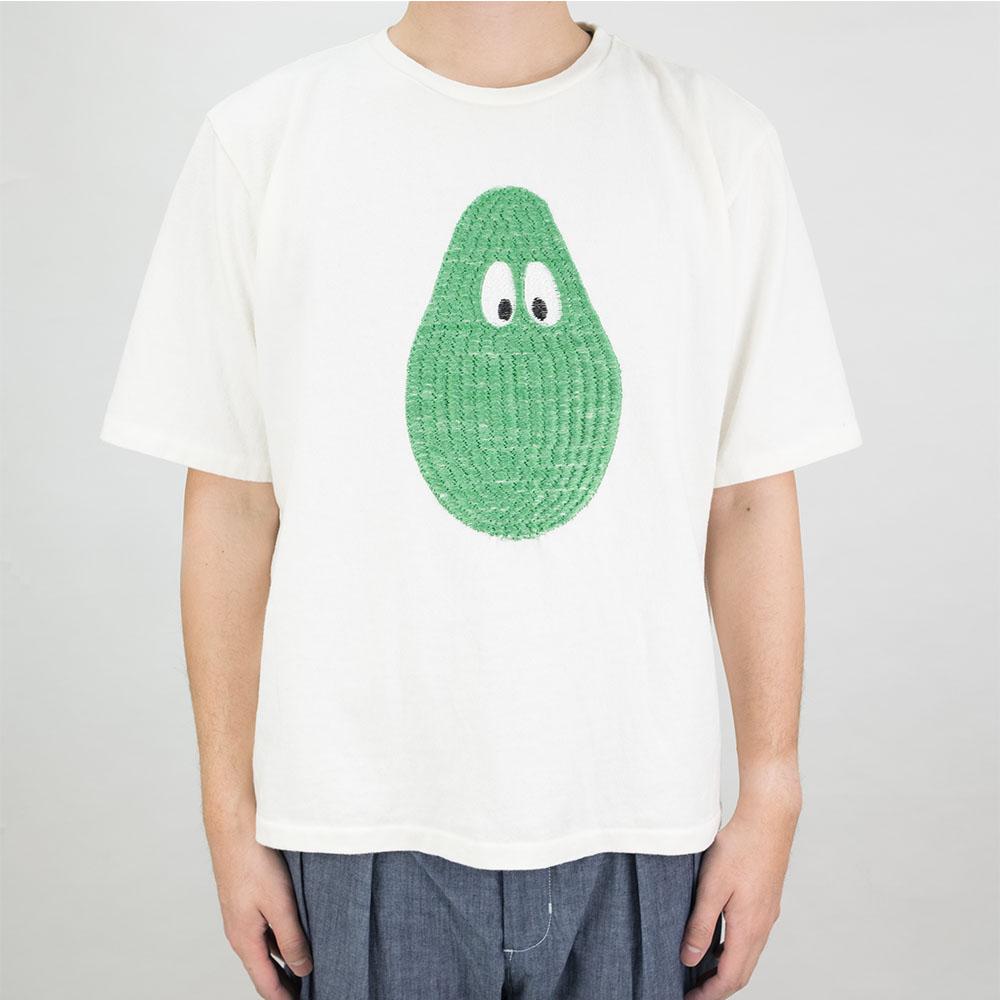 Monitaly 3D Avocado Embroidery S/S Tee - Off white