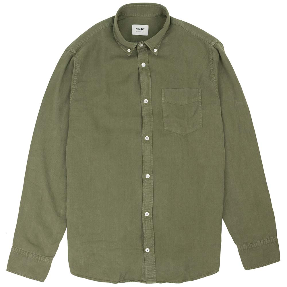 NN07 Levon Lyocell Shirt - Leaf Green