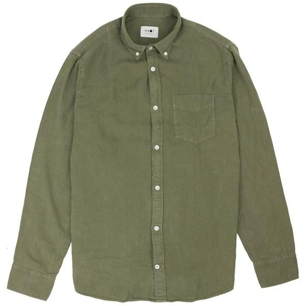 NN07 Levon Lyocell Shirt - Leaf Green