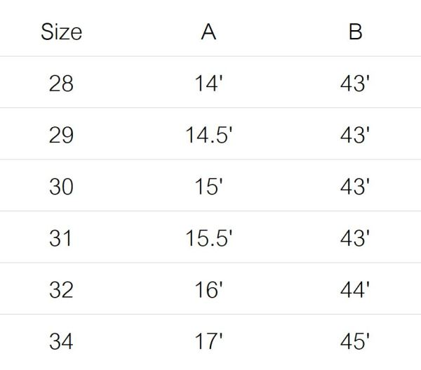 kuro pants size guide 3