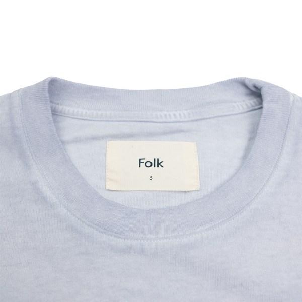 Folk Contrast Sleeve Tee - Cold Dye Mist