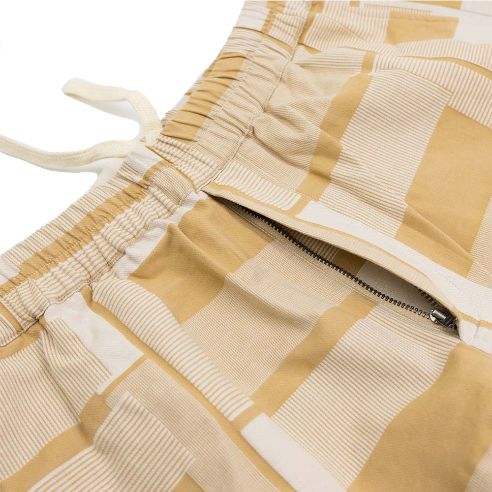 Folk Drawcord Assembly Shorts - Marigold Jacquard