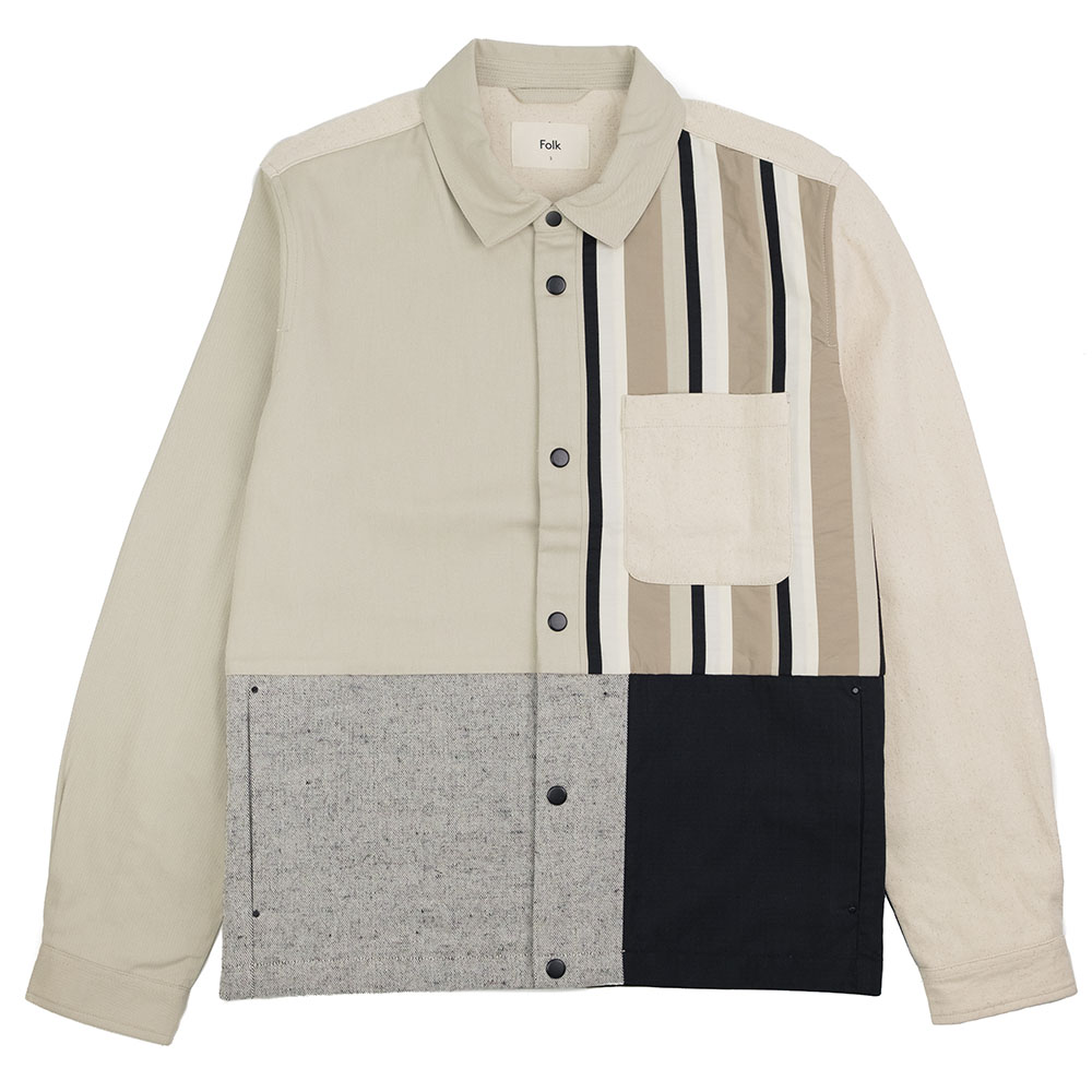 Folk Warp Jacket - Stone Black Patchwork