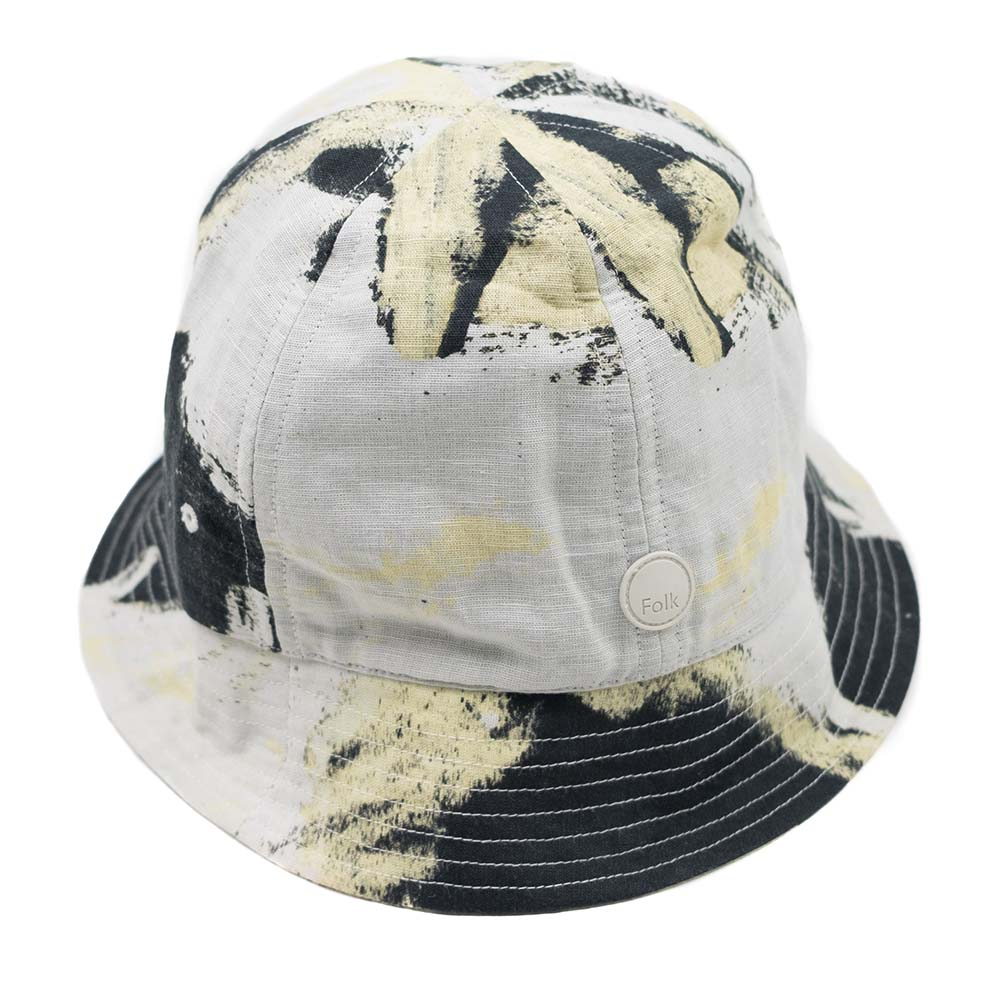 Folk x Alfie Kungu Bucket Hat - Light Gold Flare Print