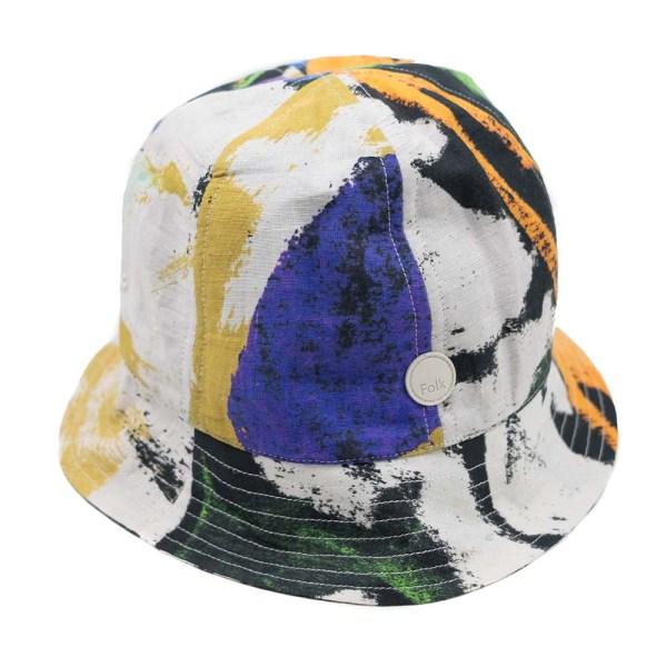 Folk x Alfie Kungu Bucket Hat - Marigold Multi Flare Print