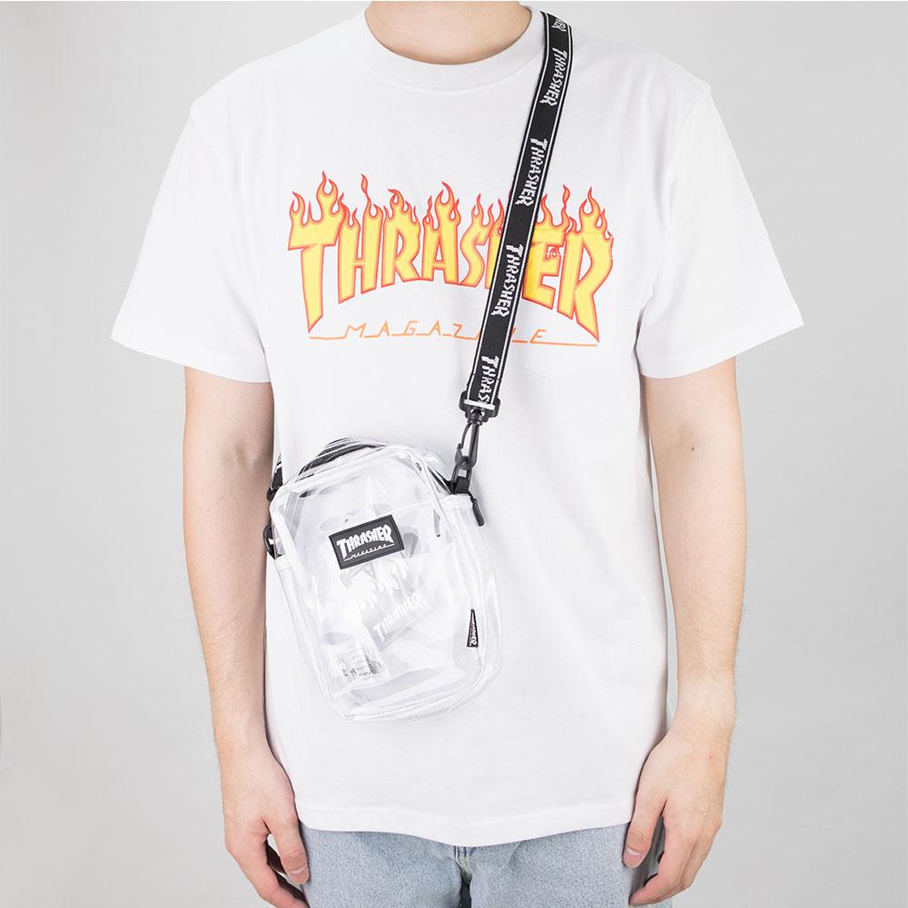 Thrasher (Japan) Hometown Clear Shoulder Bag - Transparent