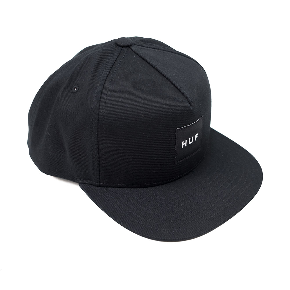 HUF Essentials Box Snapback Hat - Black