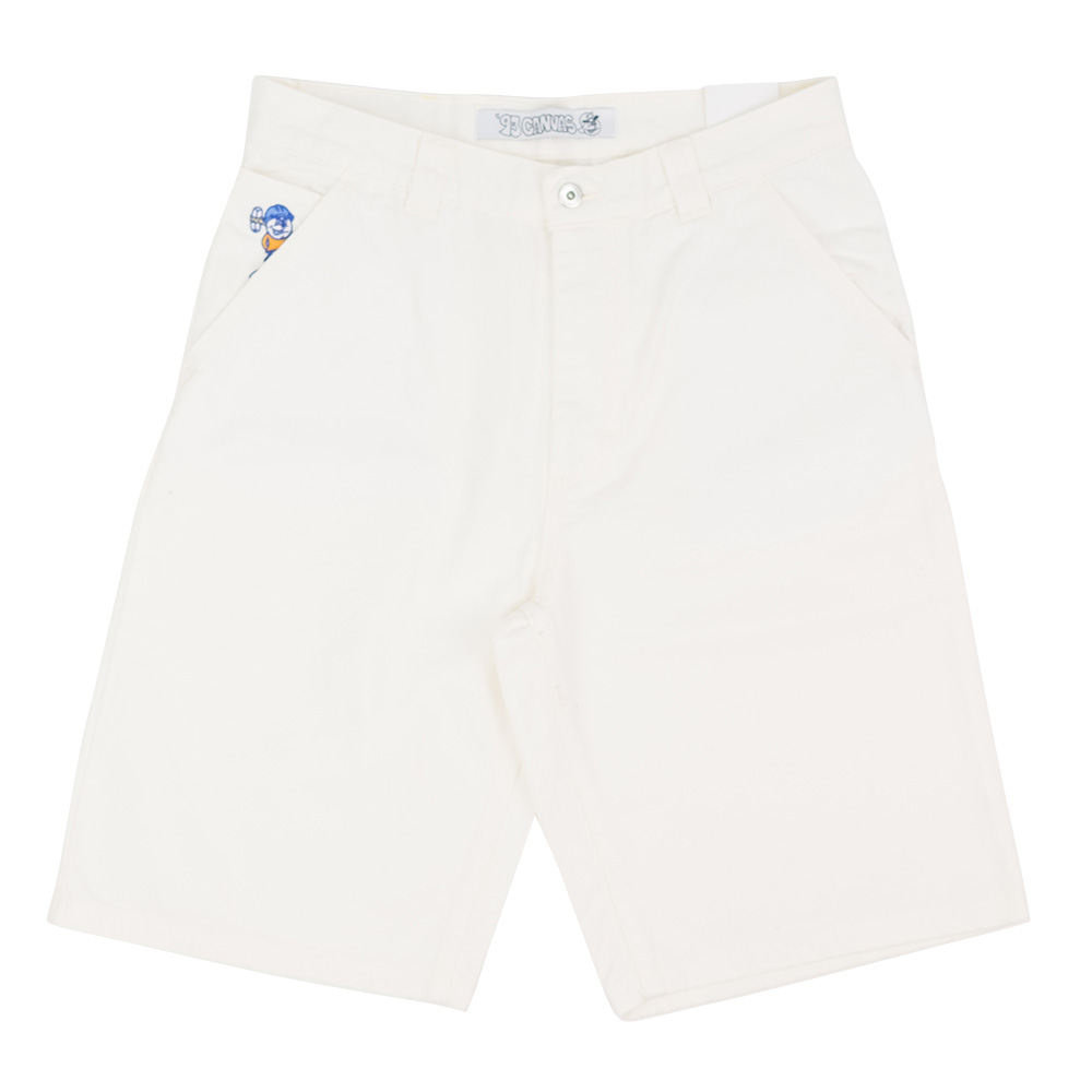 Polar Skate Co. '93 Canvas Shorts - Ivory