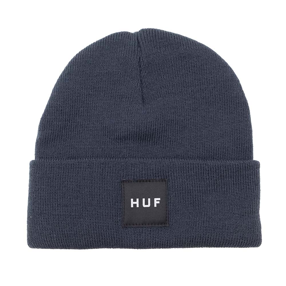 HUF Essentials Box Logo Beanie - French Navy