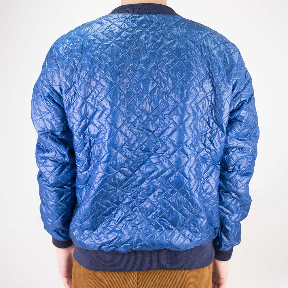 Monitaly Quilted Crewneck Pullover - Navy