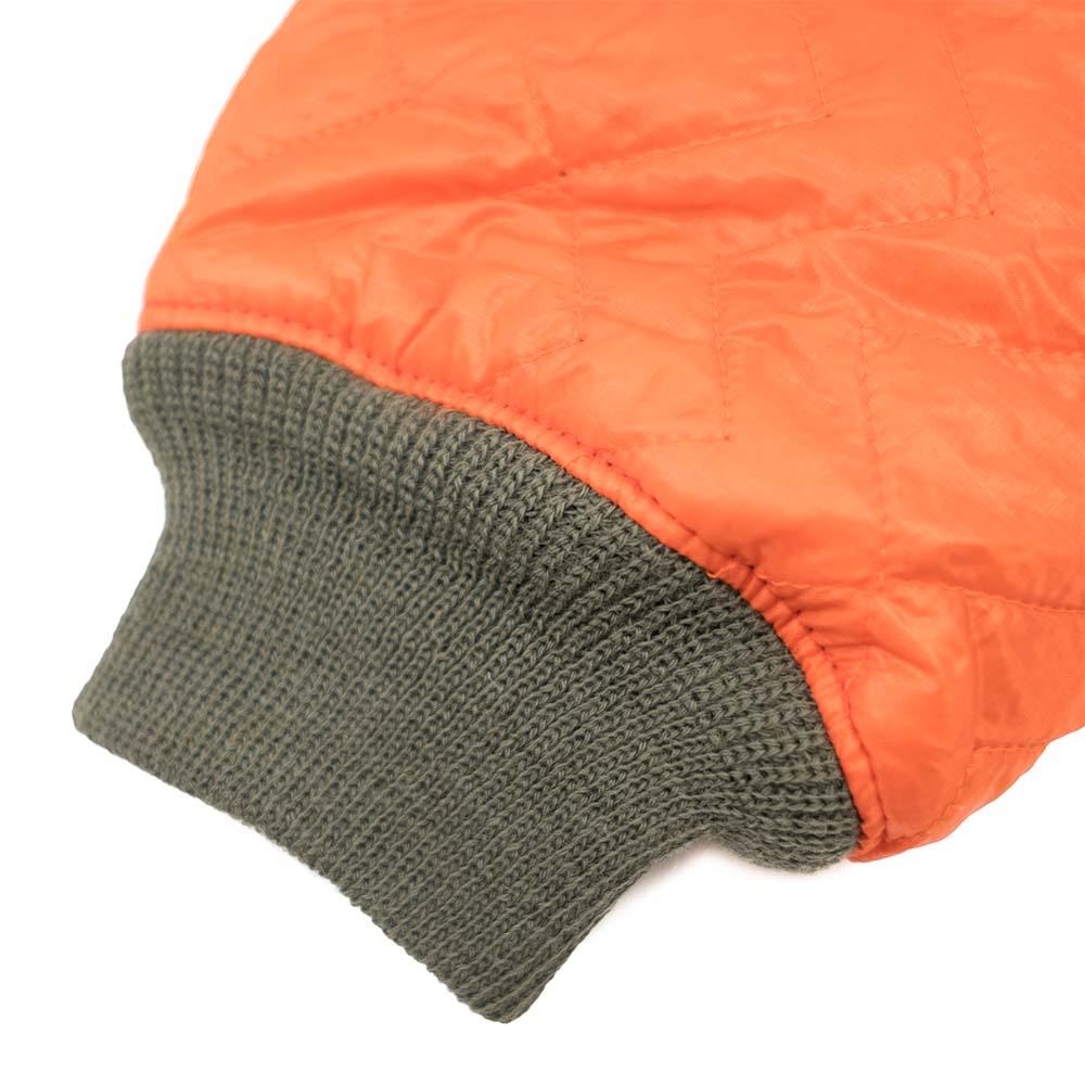 Monitaly Quilted Crewneck Pullover - Orange