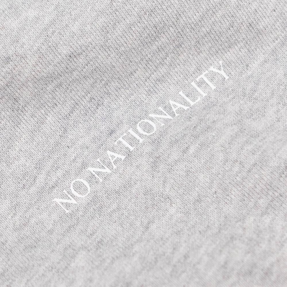 NN07 Barrow Print Hoodie - Light Grey Melange