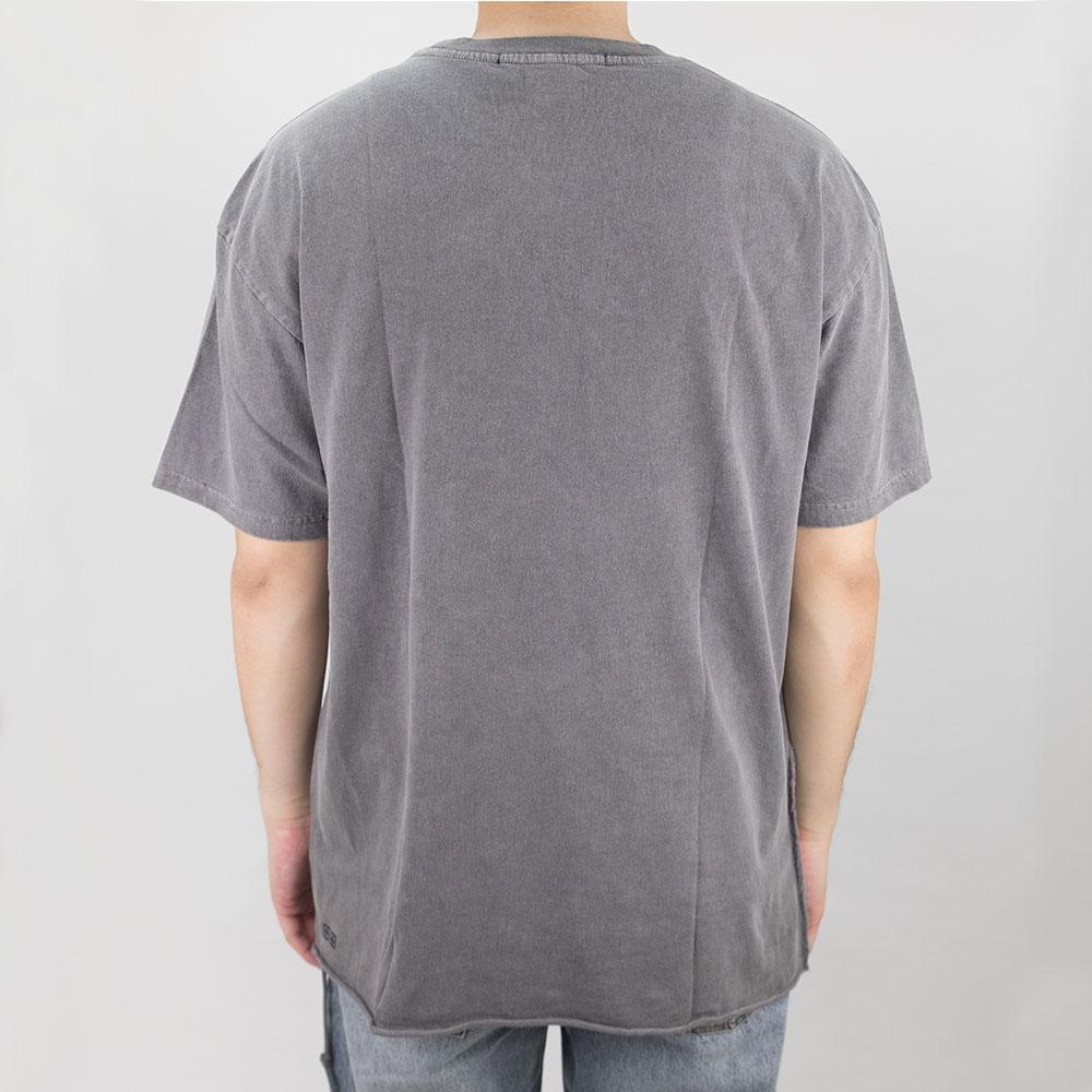 Ksubi Liberated Biggie Short Sleeve Tee - Washed Grey