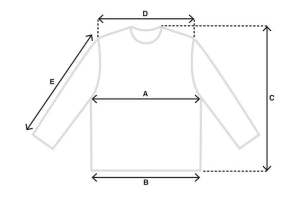 long sleeve tee size