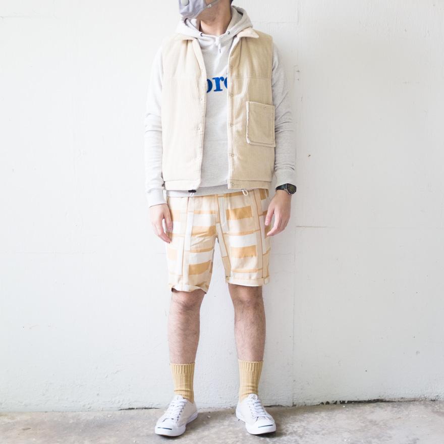 Kuro Padding vest x Folk Assembly Shorts