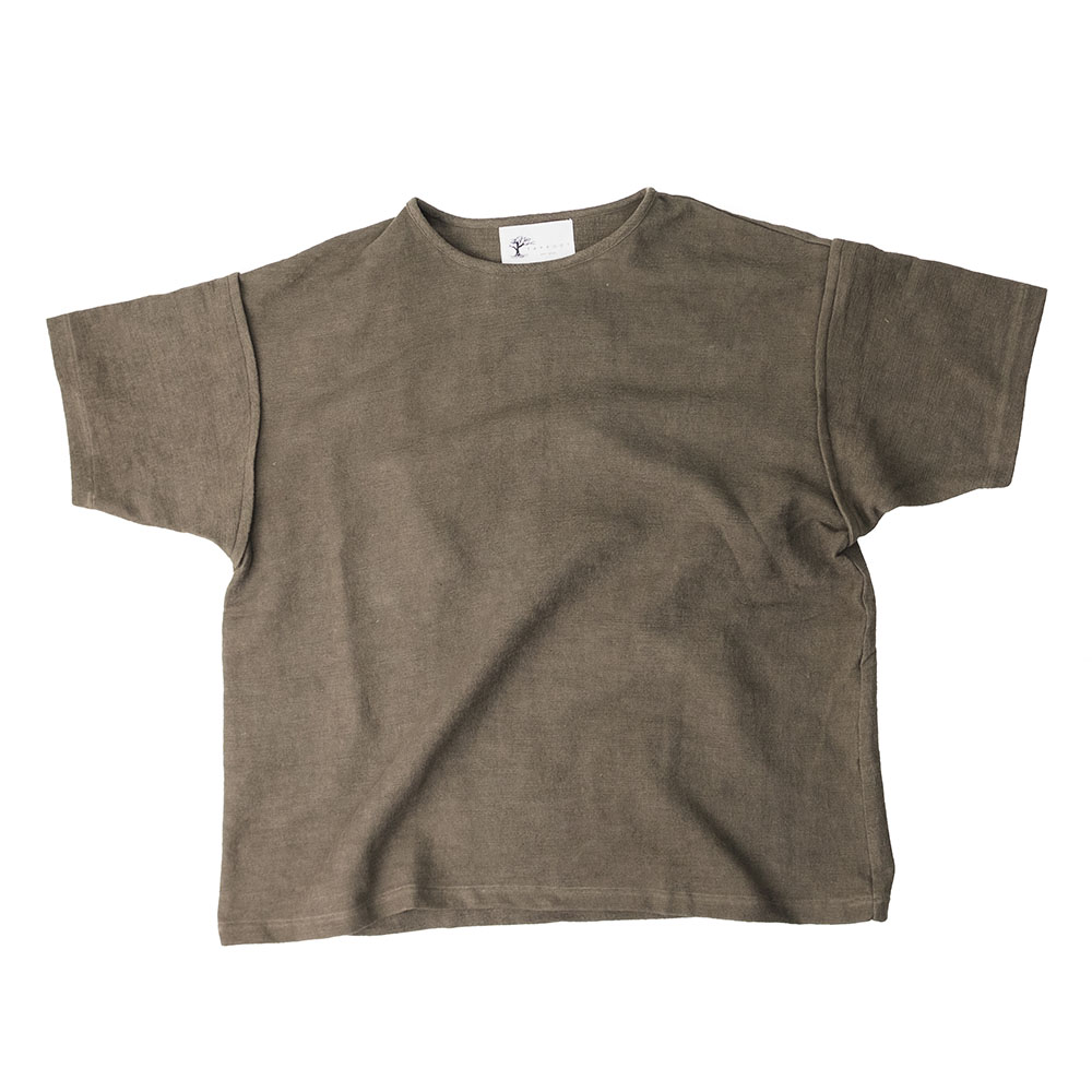 Taproot Hand Dyed Short Sleeve Tee - Khaki