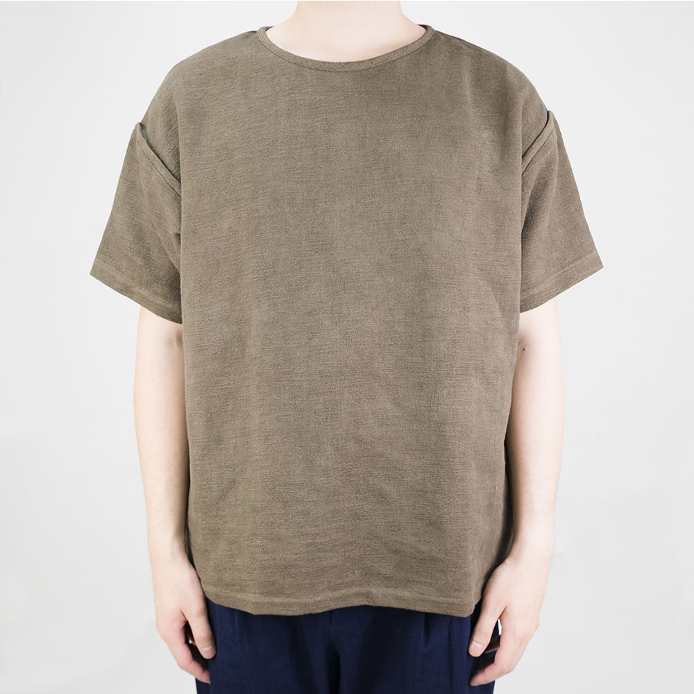 Taproot Hand Dyed Short Sleeve Tee - Khaki