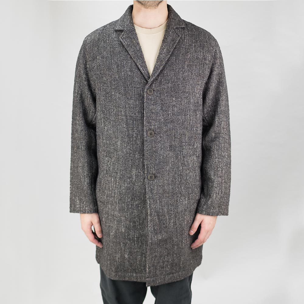 Folk Tag Coat - Mottled Charcoal