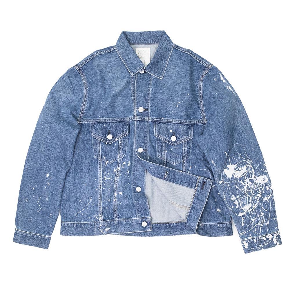 Kuro Karla Paint Denim Jacket - Indigo