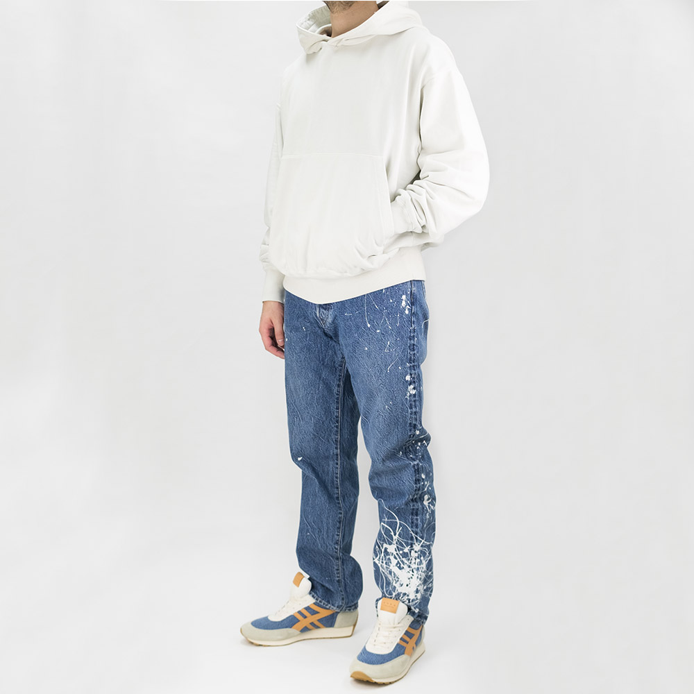Kuro Sulfur Dyed Giza Suvin Pullover - Off White
