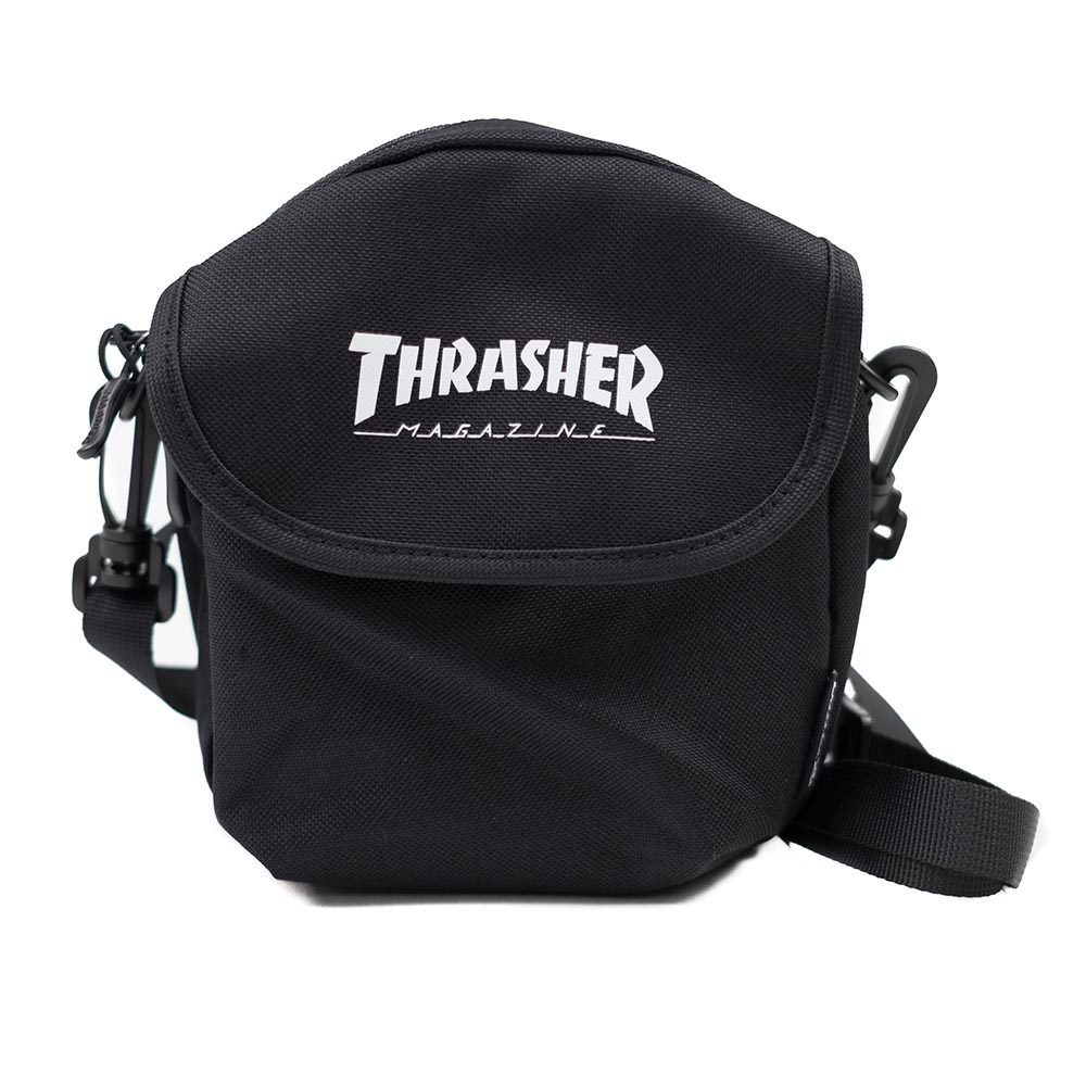 Thrasher (Japan) Hometown Adventure Shoulder Bag - Black