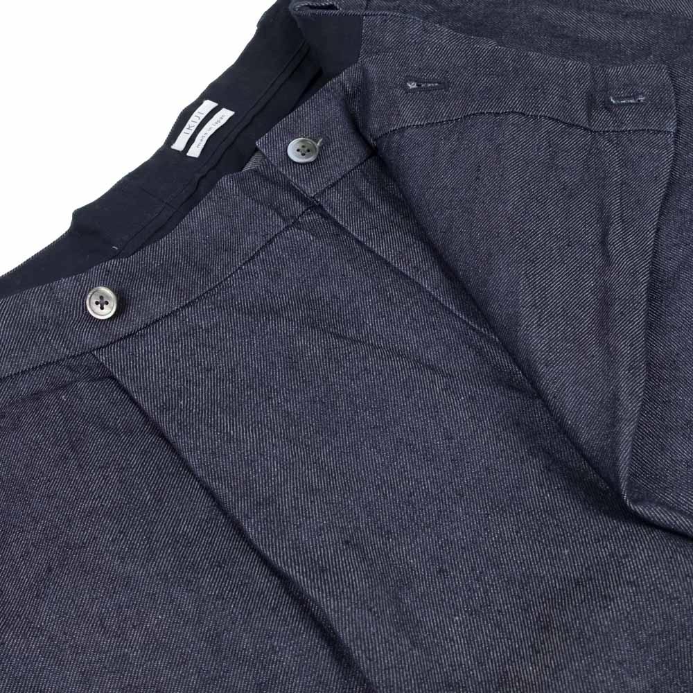 IKIJI Linen Denim HAKAMA Shorts - Navy