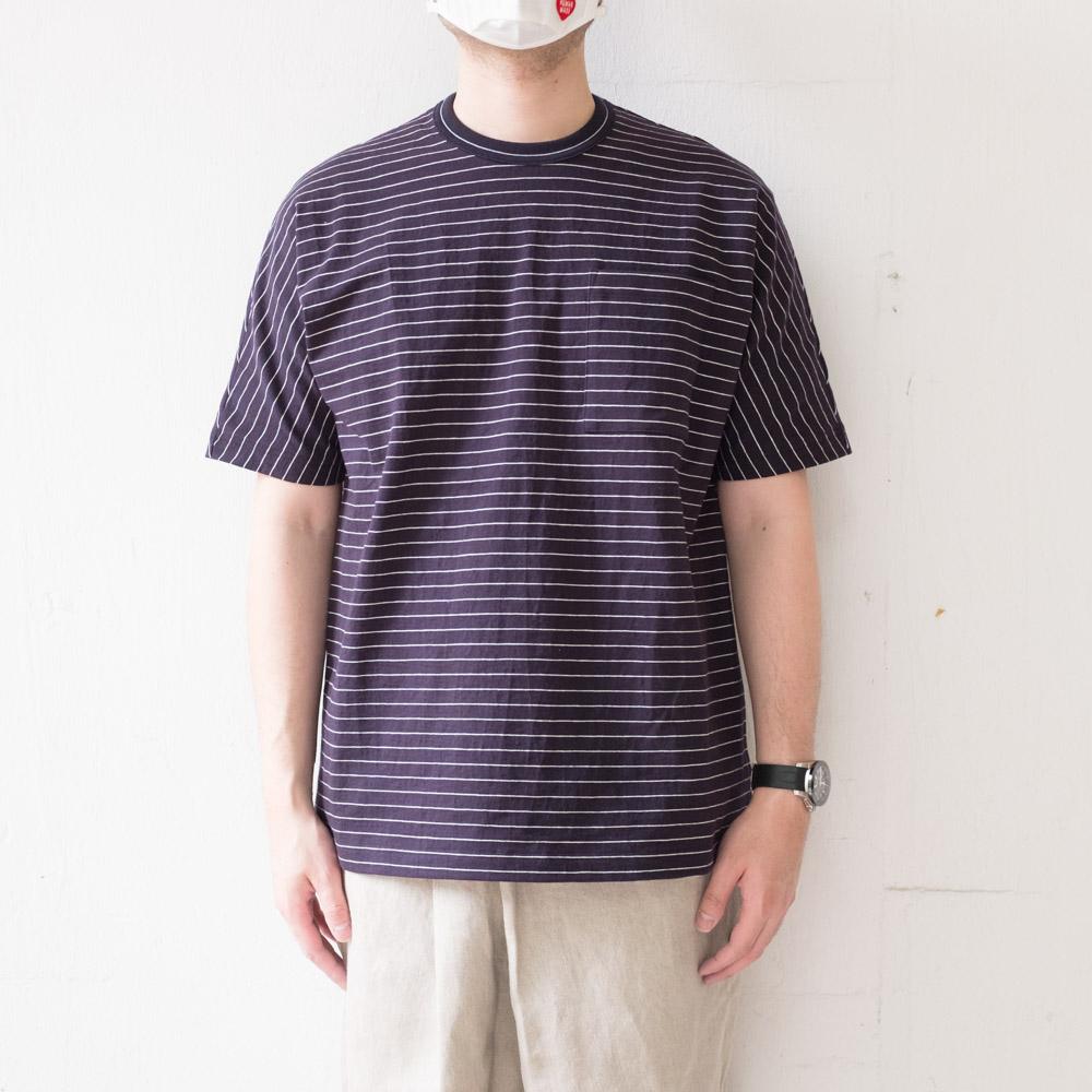 IKIJI Dolman Sleeve T-shirts - Navy / White