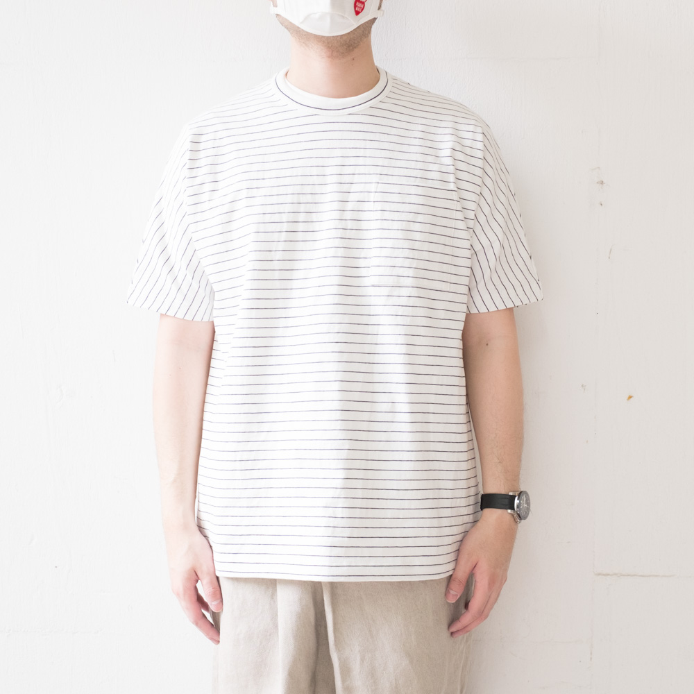 IKIJI Dolman Sleeve T-shirts - White / Navy