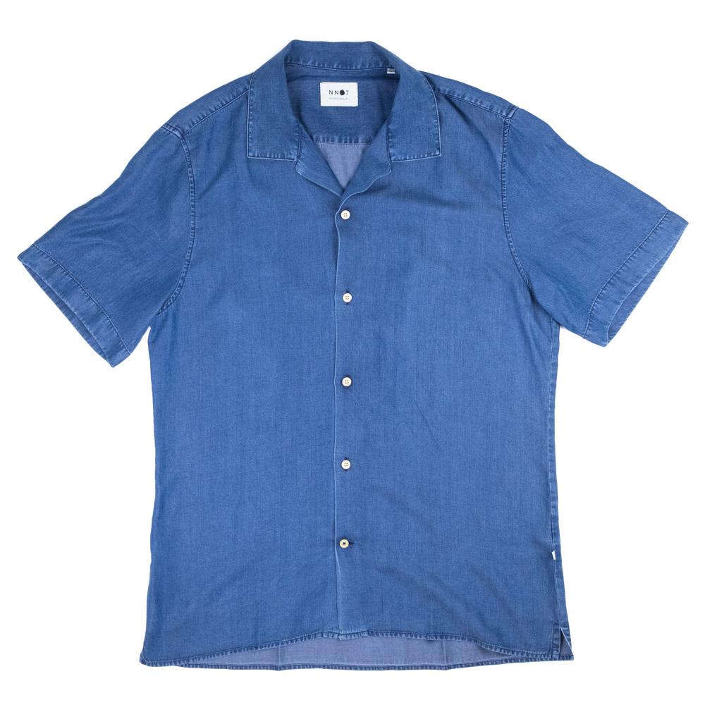 NN07 Miyagi Shirt - Dark Indigo