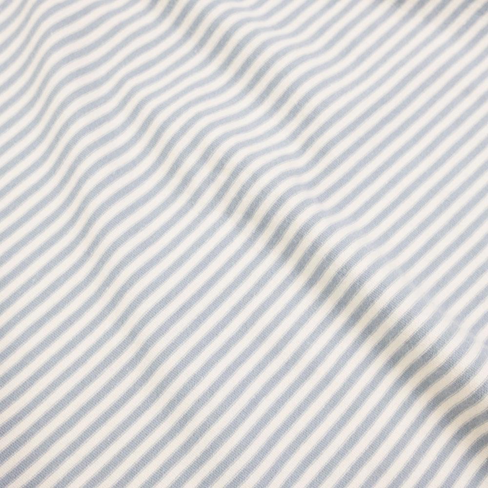 Folk 1X1 Stripe Tee - Ecru Woad